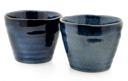 Japanese Moon Shimmer Ceramic Tea Cups X 2